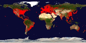 World Map with User Locations