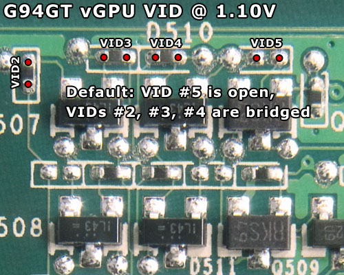 For The Record Here Is What Your Unmodded Card Should Look Like Pad Pairs Were Going To Solder On Are Labeled As VID2 VID3