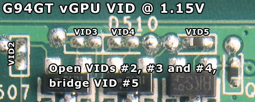 To Achieve 115V VGPU Voltage One Needs Set Up The VID Pads As Instructed Above