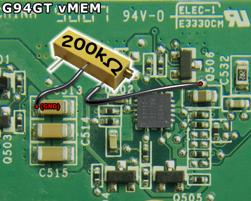 Locate The Chip Labeled 51117 On Backside Of Card A 200 K Variable Resistor Is Needed For This Modification Solder