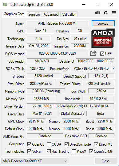 Download TechPowerUp GPU-Z   TechPowerUp