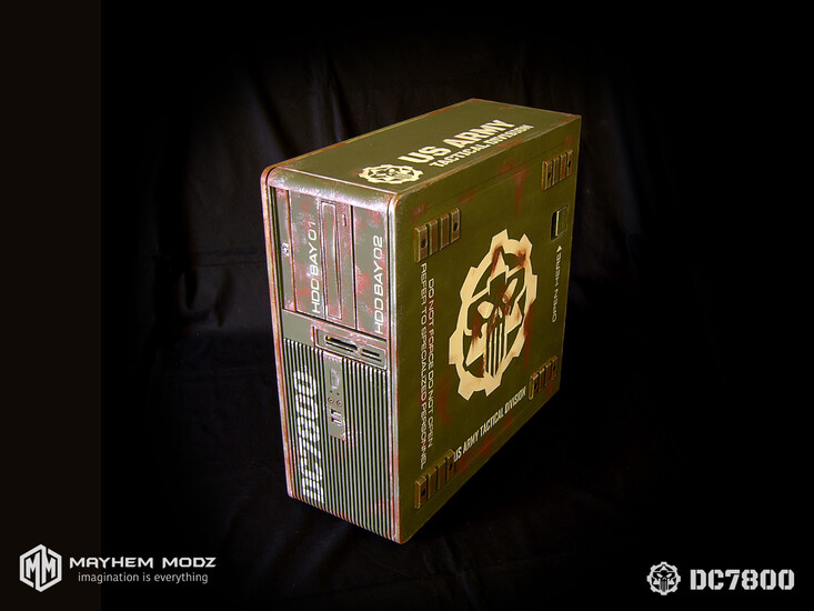 HP DC7800 restyling military casemod | TechPowerUp Case
