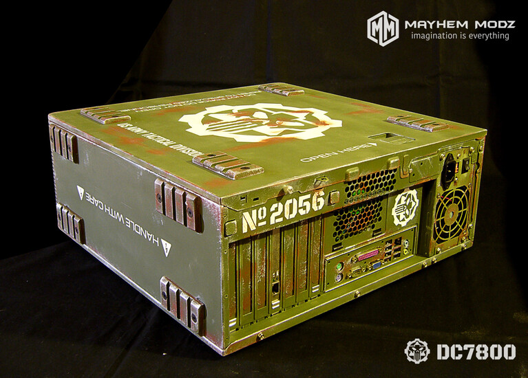 HP DC7800 restyling military casemod | TechPowerUp Case Modding Gallery