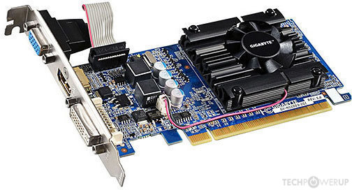 GIGABYTE GeForce 210 1 GB Rev  5 0 Specs   TechPowerUp GPU Database