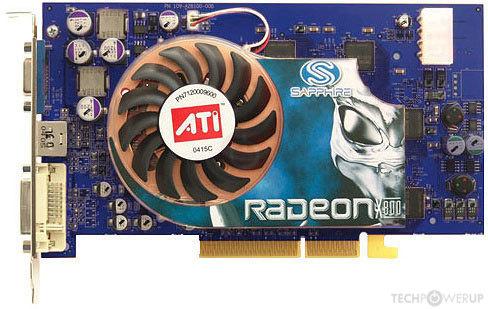 ATI RADEON X800 XT PCI-E DRIVERS PC