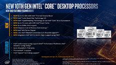 New Comet Lake Desktop Processor Features
