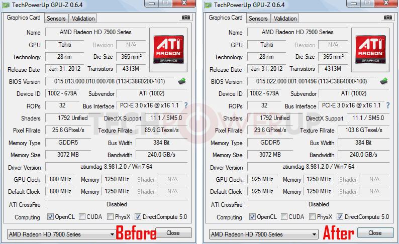 AMD HD 7950 Boost Clock BIOS Update Review | TechPowerUp