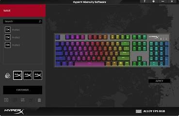 HyperX Alloy FPS RGB Keyboard + Doubleshot PBT Keycaps