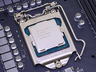 Processor installed in motherboard