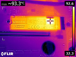 Thermal Camera FLIR Image during Write Test