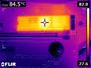 Thermal Camera FLIR Image during Write Test
